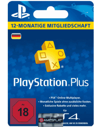 PSN LiveCard PLUS 12 Monate PS4/PS3/PSV PlayStation Network