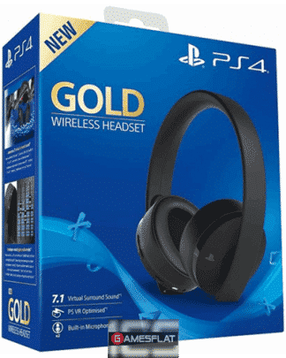 PS4 Headset org. Gold Edition black Sony 7.1./ VR optimiert