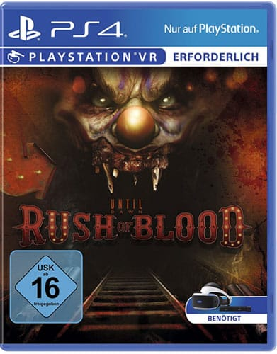 VR Until Dawn: Rush of Blood DISC USK PS4