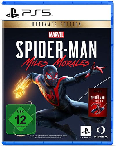 Spiderman Miles Morales  PS-5 Ultimate inkl. Spiderman Remastered